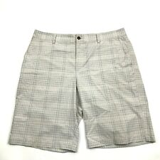 Adidas Golf Mens Chino Shorts Size 36 Waist Tan Flat Athletic Leisure STRETCH