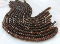 "6.5"" strand AAA ANDALUSITE faceted gem stone rondelle beads 4.5mm - 5mm brown"