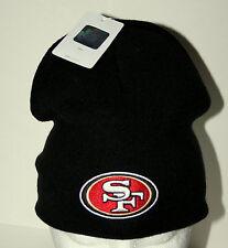 San Francisco 49ers Superbowl Team NFL Football Black Knit Cap Hat New Tags