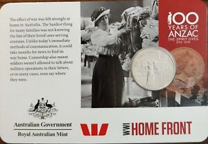 ⭐ 2015 20c Coin 100 Years of ANZAC WWI: HOME FRONT ⭐