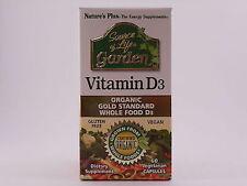 Nature's Plus Source of Life Garden Vitamin D3 60 Vegetarian Capsules