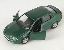 Blitz envío audi a4 verde oscuro/dark green Welly modelo coche nuevo & OVP 318