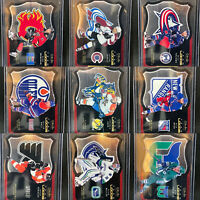 11 Card Lot OPC Platinum Team Logos Die-cut Insert Modano Jagr Iginla Hall Nash
