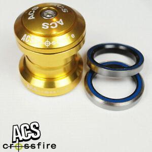 ACS Crossfire External Cup Headset Threadless Gold 1''
