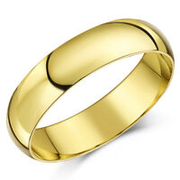 9ct Yellow Gold Ring Xtra Heavy D Shaped Wedding Ring Band (Solid & Hallmarked)