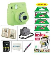 Fujifilm Mini 9 Instant Film Camera (Lime Green) + 50 Film Sheets + Accessories