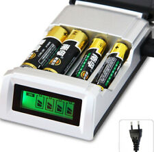 4 Slots LCD Smart Charger for AA / AAA NiCd NiMh Rechargeable Batteries EU Plug