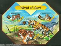SOLOMON ISLANDS  2014 WORLD OF TIGERS  SHEET  MINT NH