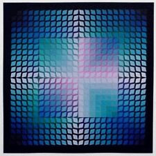 Victor Vasarely Lithograph Quasar Paal - 2  1970