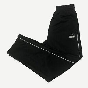 Puma black tracksuit bottoms/ Joggers