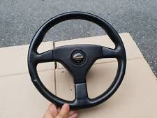 GENUINE JDM MOMO HONDA CIVIC INTEGRA EG DC2 BLACK LEATHER STEERING WHEEL 350MM