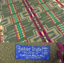 Vintage Pendleton Beaver State Aztec Wool Blanket