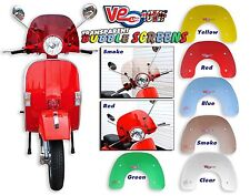 CLEAR TRANSPARENT BUBBLE SPORTS FLYSCREEN - VESPA PX 200 E DISC