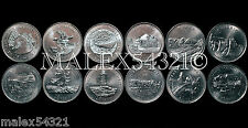 CANADA 1992 COMPLETE SET OF THE (12) COMMEMORATIVE 25 CENTS