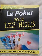 Le poker pour les nuls Harroch  Richard
