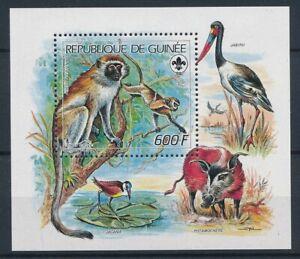 [343747] Guinea 1987 monkey good very fine MNH sheet