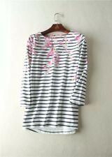 NEW JOULES SS18 BLOSSOM NAVY STRIPE HARBOUR PRINT TOP UK 18