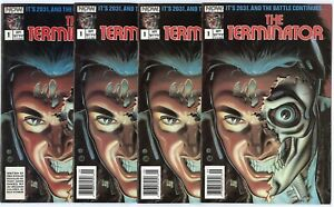 Terminator #1 (4 copies)  avg. NM 9.4 white pages  NOW Comics  1988  No Reserve