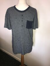 758b231e Mens Hugo Boss Orange Label Navy Blue 1/4 Button Neck Pocket T-shirt