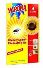 4 X Vapona Fly Killer Fenêtre Tournesol Stickers Élimine Mouches Guêpe Parasite