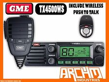 GME TX4500WS UHF RADIO- 80CH 5WATT 2 WAY CB WITH WIRELESS PUSH TALK & SCANSUITE