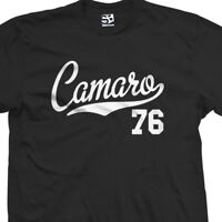 Camaro 76 Script Tail Shirt - 1976 Classic Muscle Race Car - All Size & Colors