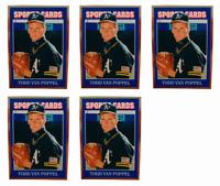 (5) 1992 Sports Cards #41 Todd Van Poppel Baseball Card Lot Oakland Athletics