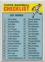1966 Topps #34 Checklist 1 EX-EXMINT+ Series 1 FREE SHIPPING