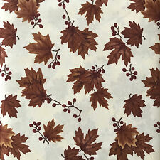 ONE HALF METRE LEAF CREAM COUNTRY ROAD QUILTING/CRAFT FABRIC HOLLY TAYLOR MODA