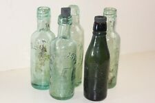 5 Antique Glass Bottles
