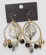 Chico's Gold Hem Chandelier Earrings NWT