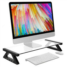 Aluminum Alloy Monitor Laptop Stand Desk Riser with 4 USB Ports for iMac