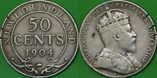 1904 Canada (H Mark) Silver Newfoundland 50 Cents Graded as Very Fine Scratched