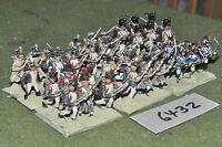 25mm napoleonic / french - infantry 36 figs metal painted - inf (6432)