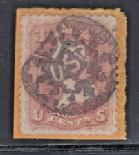 "#65 Used Fancy Patriotic ""USA"" Cancel of Albany, NY (PT-USA2) (JH 7/7)"