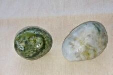 Green Tourmaline and quartz crystal stones