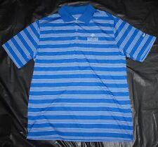 Nike Golf Mens Dri Fit Polo Shirt Stretch Blue White Striped Size Large