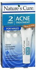 Natures Cure 2 Part Acne Treatment for Males 1 Each