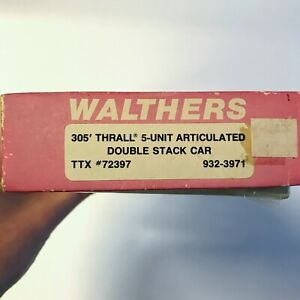 HO Scale TTX K LINE Walthers 305' Thrall 5-Unit Well Car Double Stack Kit
