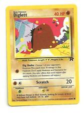 Diglett Pokemon Team Rocket Individual Card (52/82) - NM/M Condition