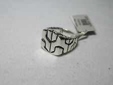John Hardy .925 Men's Sterling Silver Classic Chain Square Signet Ring 10