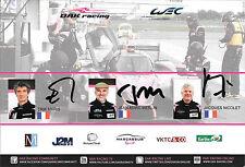 Nicolet / Merlin / Maris SIGNED, OAK Racing Ligier #35 Official Promocard  2015