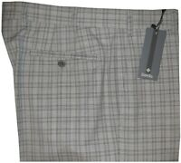 $395 NEW ZANELLA NORDSTROM PARKER GRAY PLAID SUPER 120'S WOOL DRESS PANTS 34