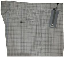 $395 NEW ZANELLA NORDSTROM PARKER GRAY PLAID SUPER 120'S WOOL DRESS PANTS 36