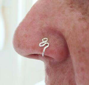 Cute Nose Cuff Non piercing Fake Clip on nose ring cuff Handmade jewelry UK