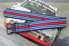 20mm Porsche Martini Car Racing Colors Strap for Big Watch Band PVD Steel