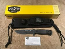 BUCK 822 Sentry Tactical Combat Knife Fixed Blade MOLLE Sheath 0822BKX Survival