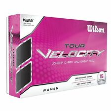 Wilson Tour Velocity Women White Golf Balls 15ct Soft Long Carry Free Shipping