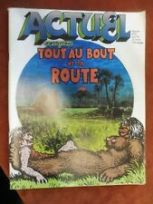 Actuel- Current magazine ( French OZ) June 1972 Travel issue  L