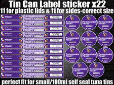 Forbidden Fruit Cali Tin Labels Stickers Marijuana weed RX Medical Cannabis can